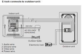 7 inch color video door phone a stand doorbell intercom wiring diagram