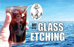 How To Etch Glass How To Etch Glass Diy Easy Glass Etching Youtube