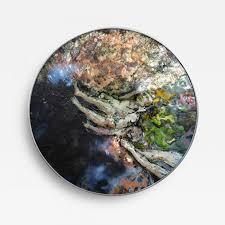 listings decorative arts wall art paintings richard loving vintage circular enamel  on vintage enamel wall art with richard loving vintage circular enamel on copper by richard loving