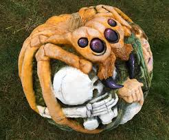 Spider Pumpkin Carving Designs Giant Spider Pumpkin Carving 3 Steps With Pictures