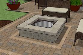 patio with square fire pit. Unique Square Or Round Fire Pit Stone House Pinterest Patio With H