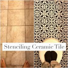 wall stencils for painting bathroom lovely paint ceramic tile with stencil and chalk paint how to