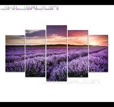 printed canvas painting sunset lavender field farm wall art landscape framed on lavender fields wall art with printed canvas painting sunset lavender field farm wall art