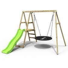 rebo active kids range wooden swing set