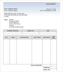 Sales Receipt 12 Sales Receipt Invoice Template