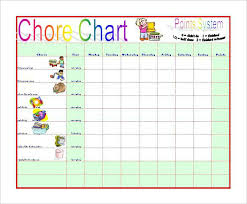 Household Chore Chart Chore Chart Samples House Chores Schedule Template Household