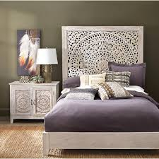 home decorators collection chennai white wash king platform bed