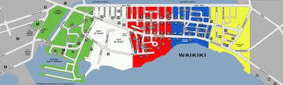 waikiki map with restaurants