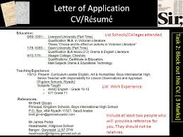 Porter Resume Unique Letter Writing 48 CVR é Sumé Letter Of Application Ppt Download