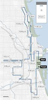 Nyc Marathon Elevation Chart Chicago Marathon Route Map Map Chococard