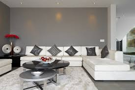 stylish living room furniture. Dark Grey Living Room With White Sectional Couch And Black Coffee Table Stylish Furniture L