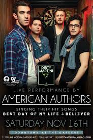 dirty martini presents american authors free live concert
