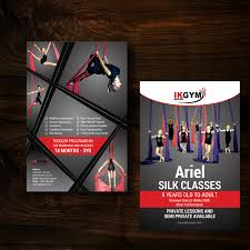 46 feminine elegant fitness flyer designs for a fitness business flyer design design 12401495 submitted to 4x6 flier ariel silk classes advertisement