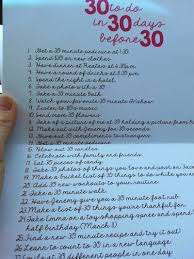 30th Birthday 30 Things To Do In 30 Days Before Turning 30 A Fun