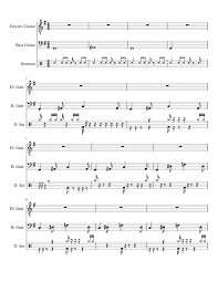 Whether you're interested in understanding different musical styles music theory really has been very boring to me but after taking this course, i am so motivated and inspired. Music Theory Project Sheet Music For Drum Group Guitar Bass Mixed Trio Musescore Com