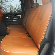 for 2009 2018 dodge ram 1500 2500 pu leather car seat cover front rear cushion