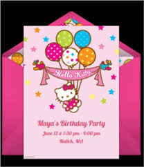 Birthday Invitations Cute Designs For Hello Kitty Birthday