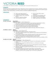 Restaurants Resume Examples Resume Examples For Restaurant Jobs Resume Sample