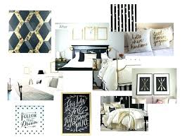 Grey And Gold Bedroom Ideas White Graphic Master Transitional Pink ...