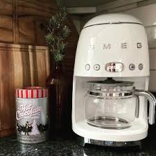 First of all, it is made out of brushed stainless. Smeg Drip Coffee Maker Williams Sonoma