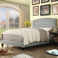 Grey Tufted Beds You'll Love   Wayfair