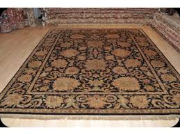 8 x 10 persian rug kashan design gold black