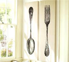 wooden fork and spoon wall decor large wood