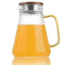 karafu 48 ounces borosilicate glass pitcher with lid water jug for hot cold wat
