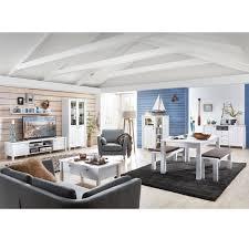 Komplett Wohnzimmer Esszimmer Set Matt Weiß Sitzgruppe Bank