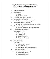 office agenda board meeting agenda outline corporate template sample present