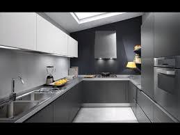 Grey Modern Kitchen Design Youtube