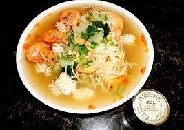 Wonton Noodle seafood soup seasoned ...