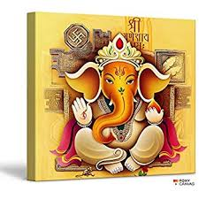 pretty ganesh wall art new trends amazon com foxycanvas lord ganpati hindu god ganesha giclee canvas print stretched and framed for uk on ganesh wall art uk with pretty ganesh wall art new trends amazon com foxycanvas lord ganpati