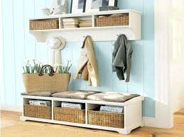 Foyer Furniture Shelving Ideas Mudroom Bench And Shelf White  Lockers Front Church