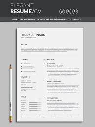 Modern Look Resume Resume Word Template Cv Template With Super Clean And Modern