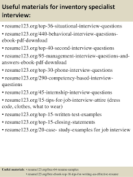 12 useful materials for inventory specialist inventory specialist resume
