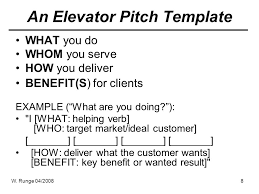 The Elevator Pitch Pitching In 30 120 Seconds Ppt Video Online