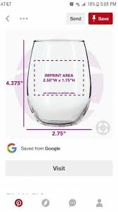 Stemless Wine Glass Decal Size Chart Wine Glass Vinyl Placement Wine Glass Decals Wine Glass