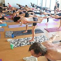 exemplifying true vinyasa yoga you ll experience a challenge through the warm up and strength and flexibility building sequence that is set to