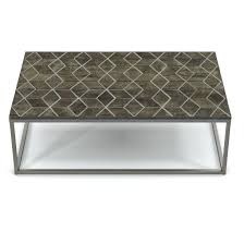 restoration hardware metal coffee table metal parquet