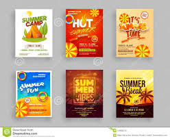 Creative Template Or Flyer Set Of Summer Camp With Date And Venue