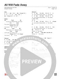 Fade Chart All Will Fade Away Chords Meredith Andrews Praisecharts