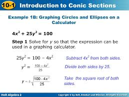 example 1b graphing circles and ellipses on a calculator