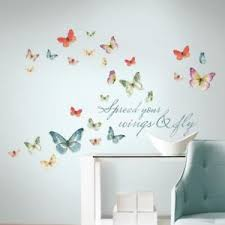image is loading butterfly quote 28 piece peel stick wall decals  on peel and stick wall art for dorms with butterfly quote 28 piece peel stick wall decals home dorm art decor