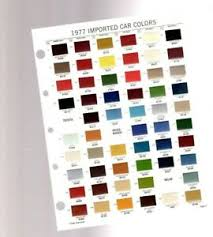 Vw Chart Details About 1977 Toyota Vw Volkswagen Volvo Color Chip Chart Paint Sample Brochure
