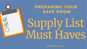Emergency List Checklist What Emergency Items Need To Be In Your Safe Room