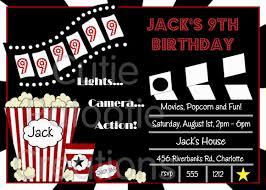 Movie Invitation Template Free Free Movie Ticket Invitation Template Free Excel Template 2