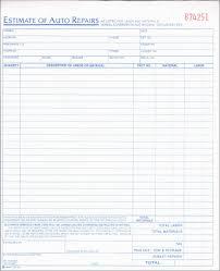 Automotive Repair Quoteate Auto Estimate Form Excel Word
