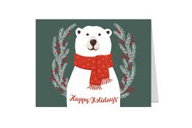 cheap holiday cards. Contemporary Holiday Smiling Polar Bear Holiday Card Pack To Cheap Cards C