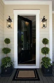 black door paint jet color front entry with classic satin garage